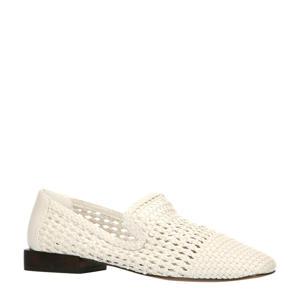 gevlochten loafers off white