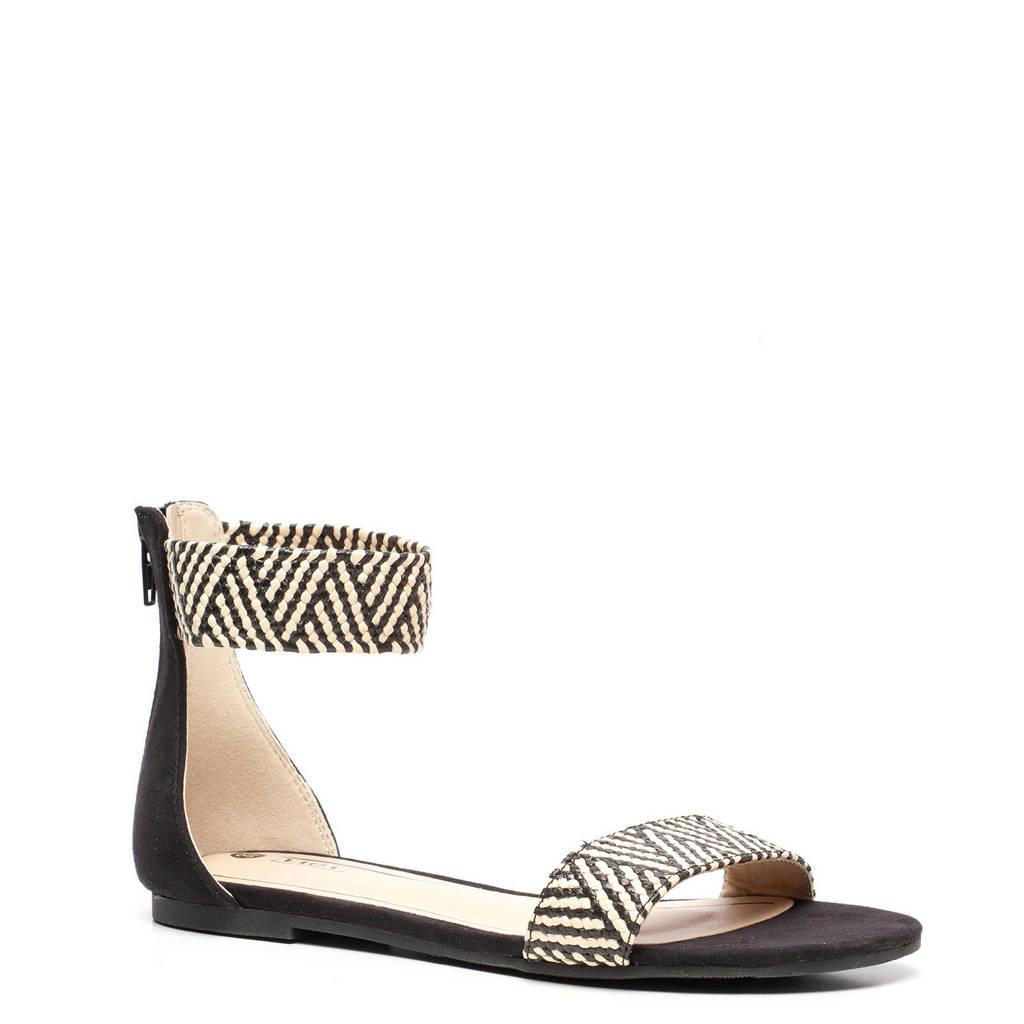 Scapino Nova   sandalen zwart/beige, Zwart/beige