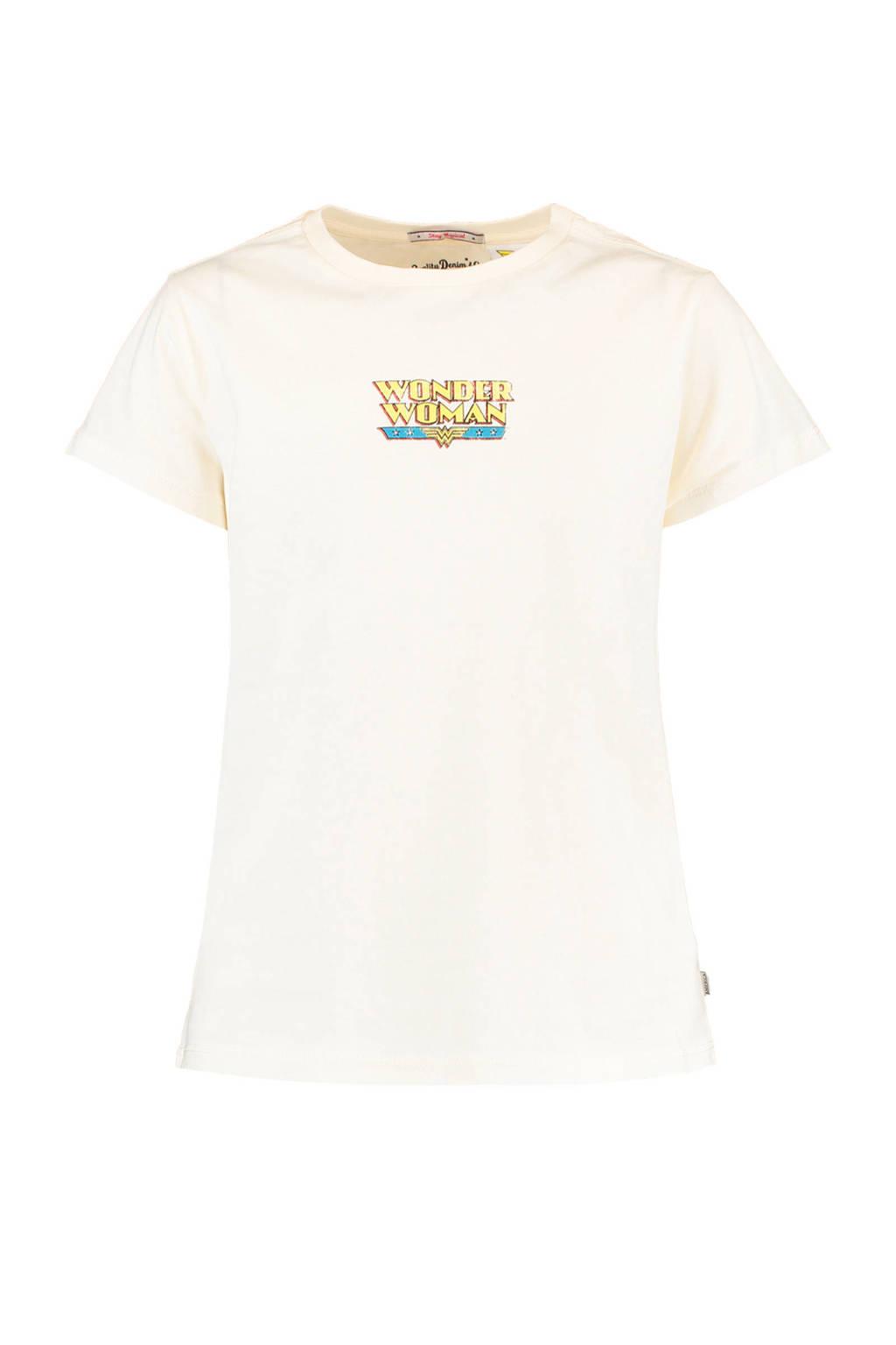 America Today Junior T-shirt met printopdruk ecru, Ecru