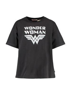 T-shirt Erica met tekst zwart/wit
