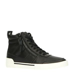 S-DVELOWS  hoge leren sneakers zwart
