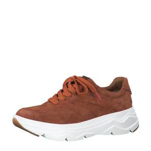 chunky suède sneakers brique