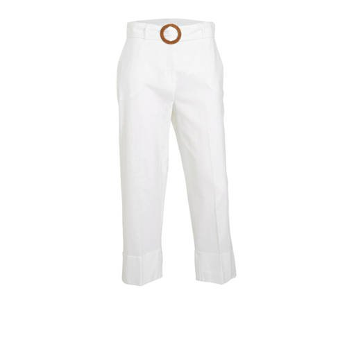 C&A Yessica cropped straight fit broek met lin