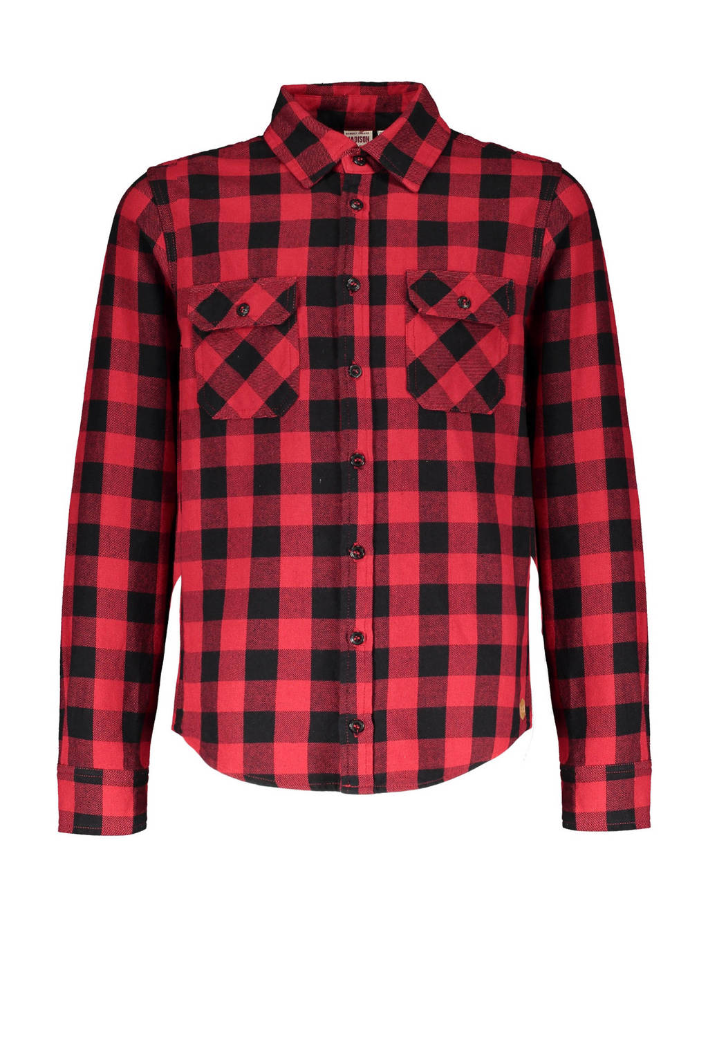 Street called Madison geruit overhemd Tommy rood/zwart, Rood/zwart