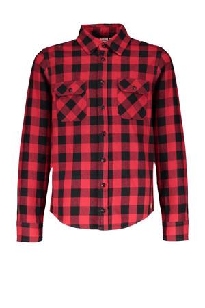 geruit overhemd Tommy rood/zwart