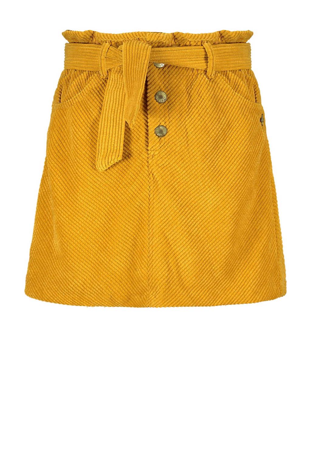 Street called Madison corduroy rok Go Crazy met textuur geel, Geel