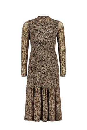 maxi jurk You & Me met dierenprint bruin/zwart