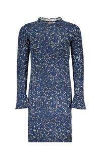 Street called Madison jurk Spotty Me met panterprint blauw/lichtblauw, Blauw/lichtblauw