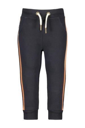 baby regular fit broek met zijstreep donkerblauw/goud