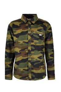 Like Flo corduroy overhemd met camouflageprint groen/lichtgroen, Groen/lichtgroen