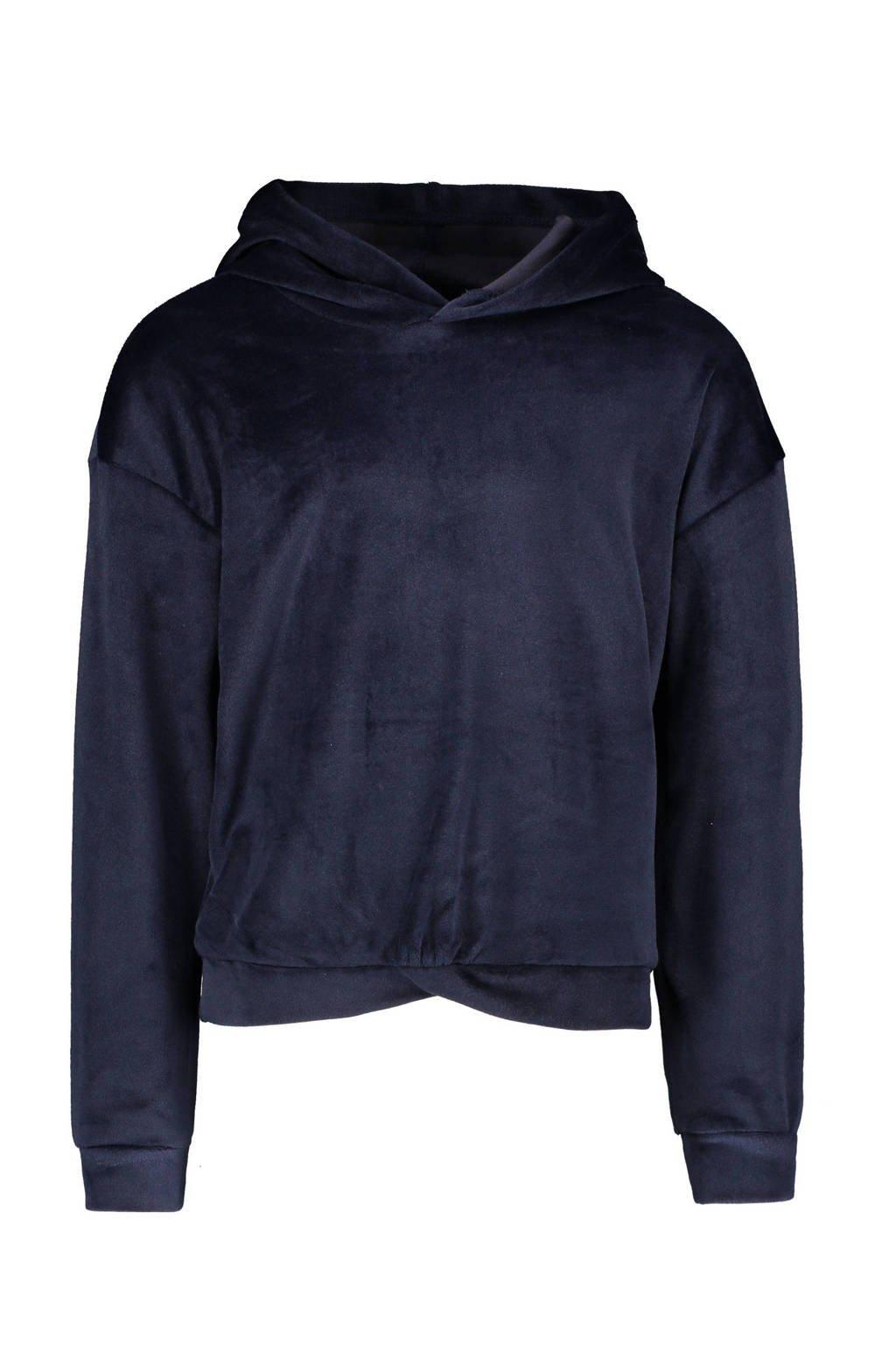 Like Flo fluwelen hoodie marine, Marine