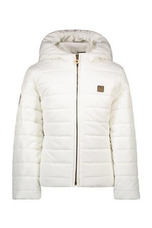 gewatteerde winterjas wit