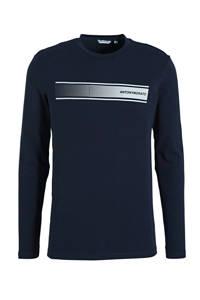Antony Morato T-shirt met logo donkerblauw/wit, Donkerblauw/wit