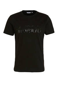 Antony Morato T-shirt met tekst zwart, Zwart
