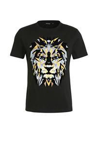 Antony Morato T-shirt met printopdruk zwart, Zwart
