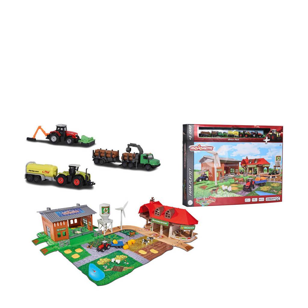 Majorette  Creatix boerderij met voertuigen