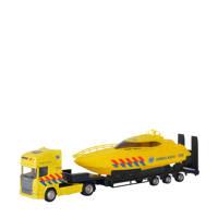 Polesie  Die-cast vrachtwagen met boot - Ambulance