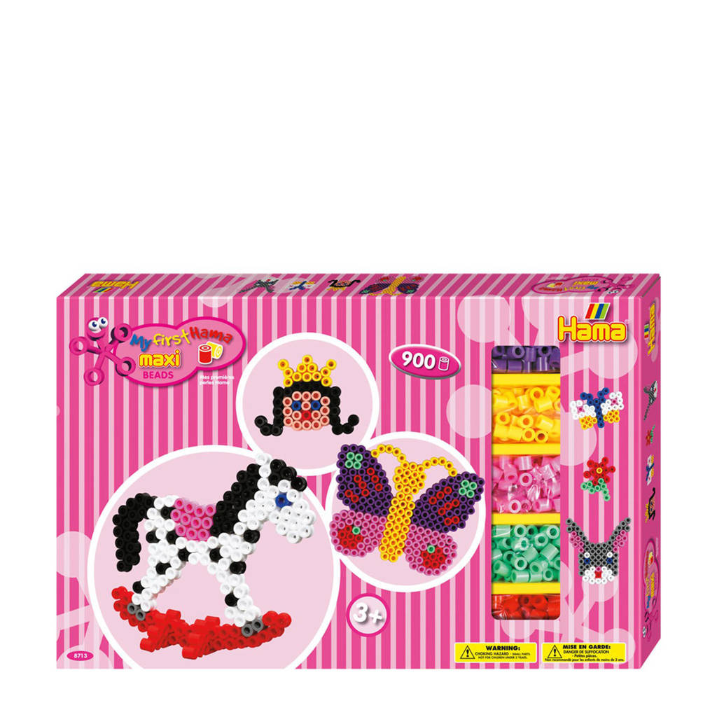 Hama strijkkralenset Maxi - Roze, 900 strijkkralen
