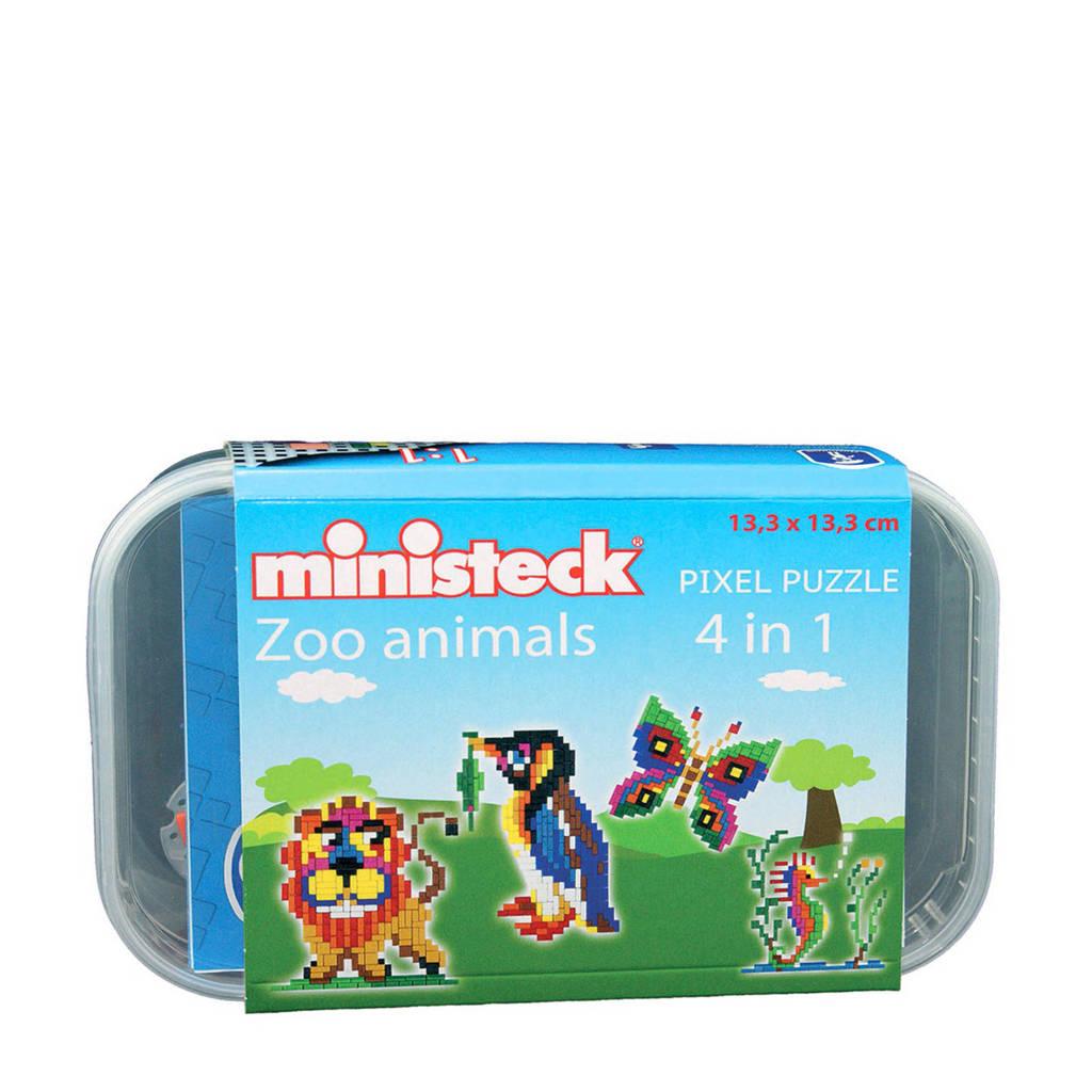 Ministeck Dierentuin Dieren Box, 510 steentjes