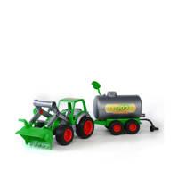 Polesie  Wader tractor met voorlader en Tanker