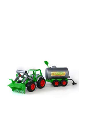 Wader tractor met voorlader en Tanker