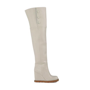Laura  overknee laarzen off white