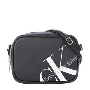 crossbody tas Camera met logo zwart