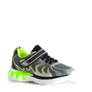 sneakers met lichtjes grijs/groen