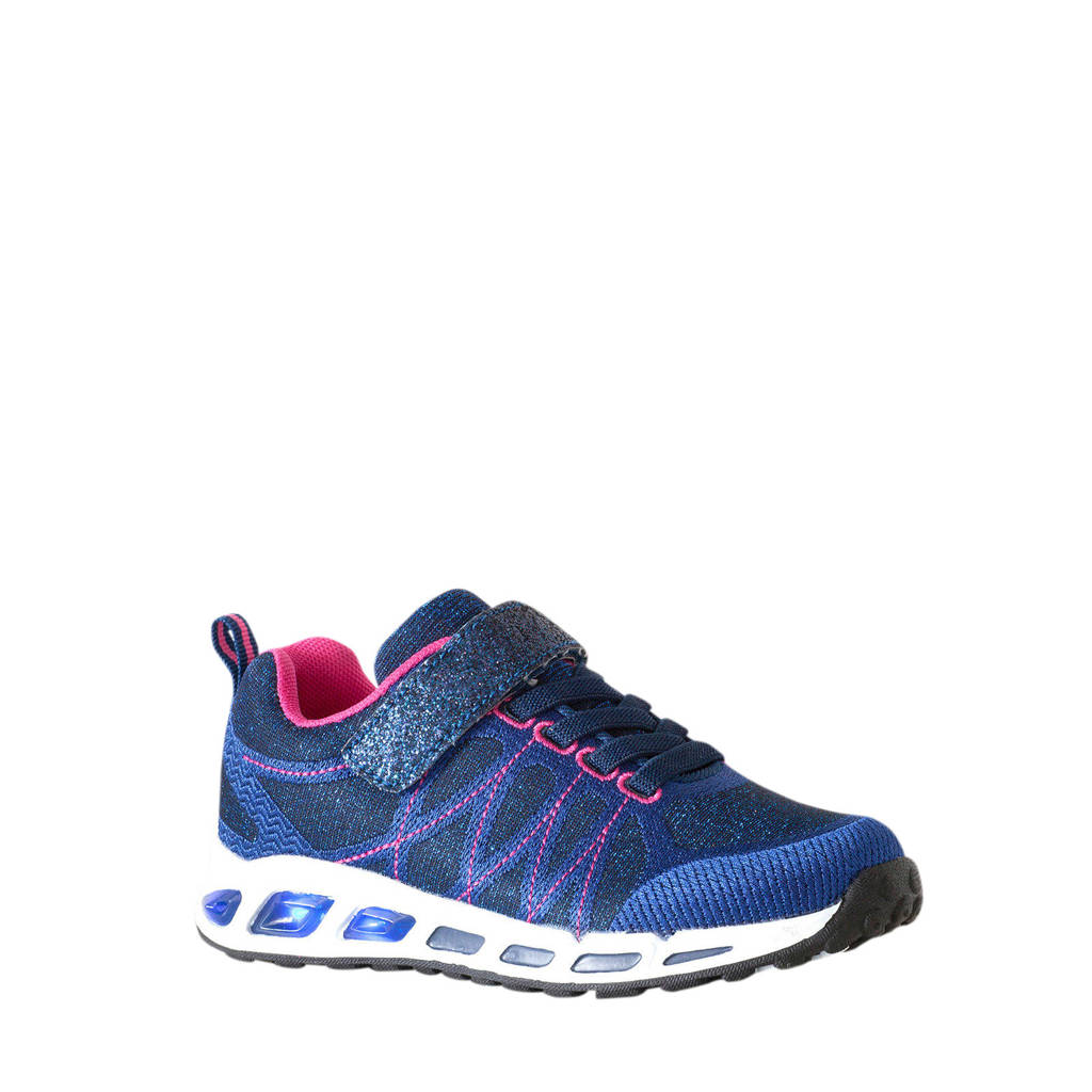 Scapino Blue Box   sneakers met lichtjes blauw/roze, Blauw/roze