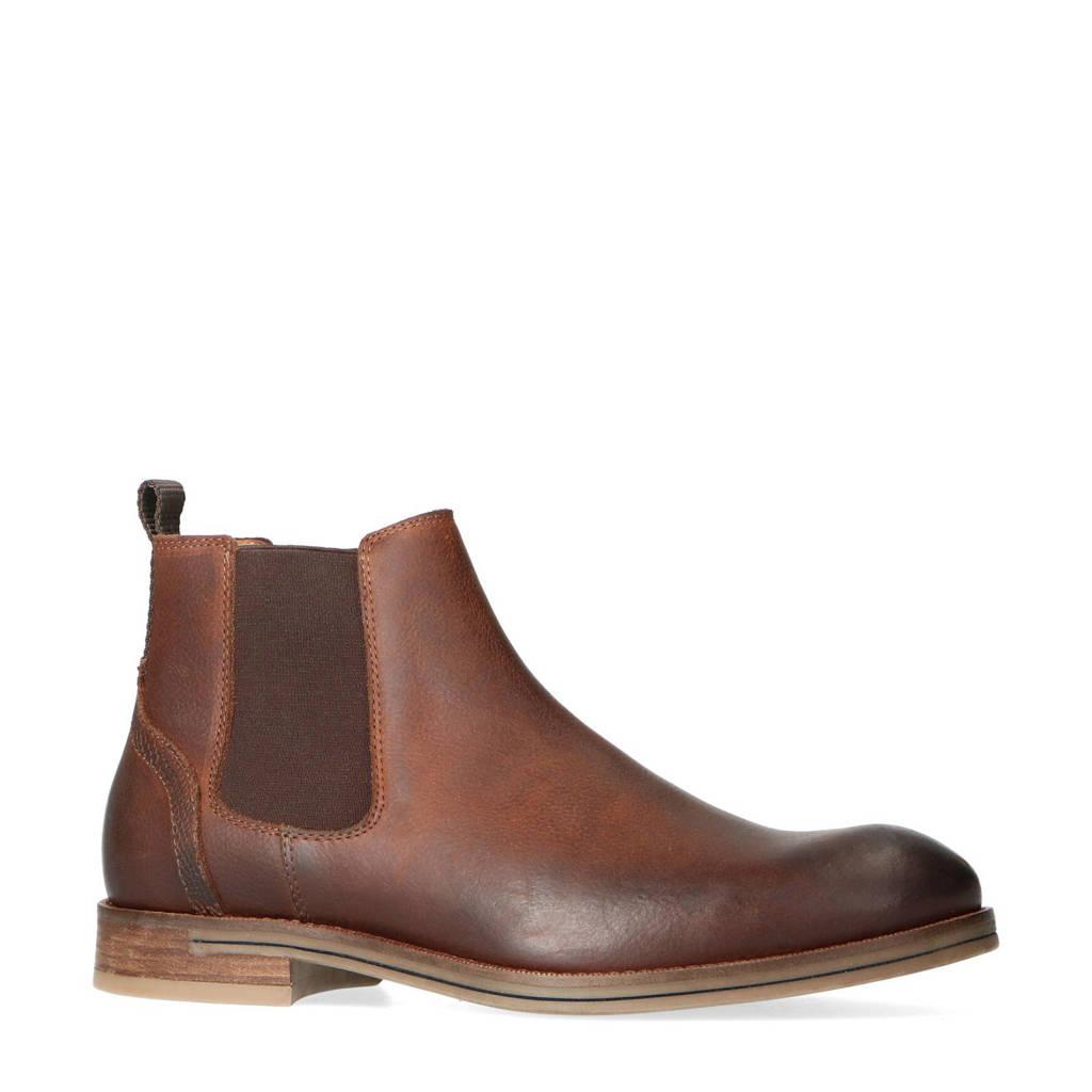 Sacha   leren chelsea boots bruin, Bruin