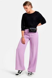 Eksept by Shoeby trui met glitters en lichte vleermuismouwen zwart, Zwart