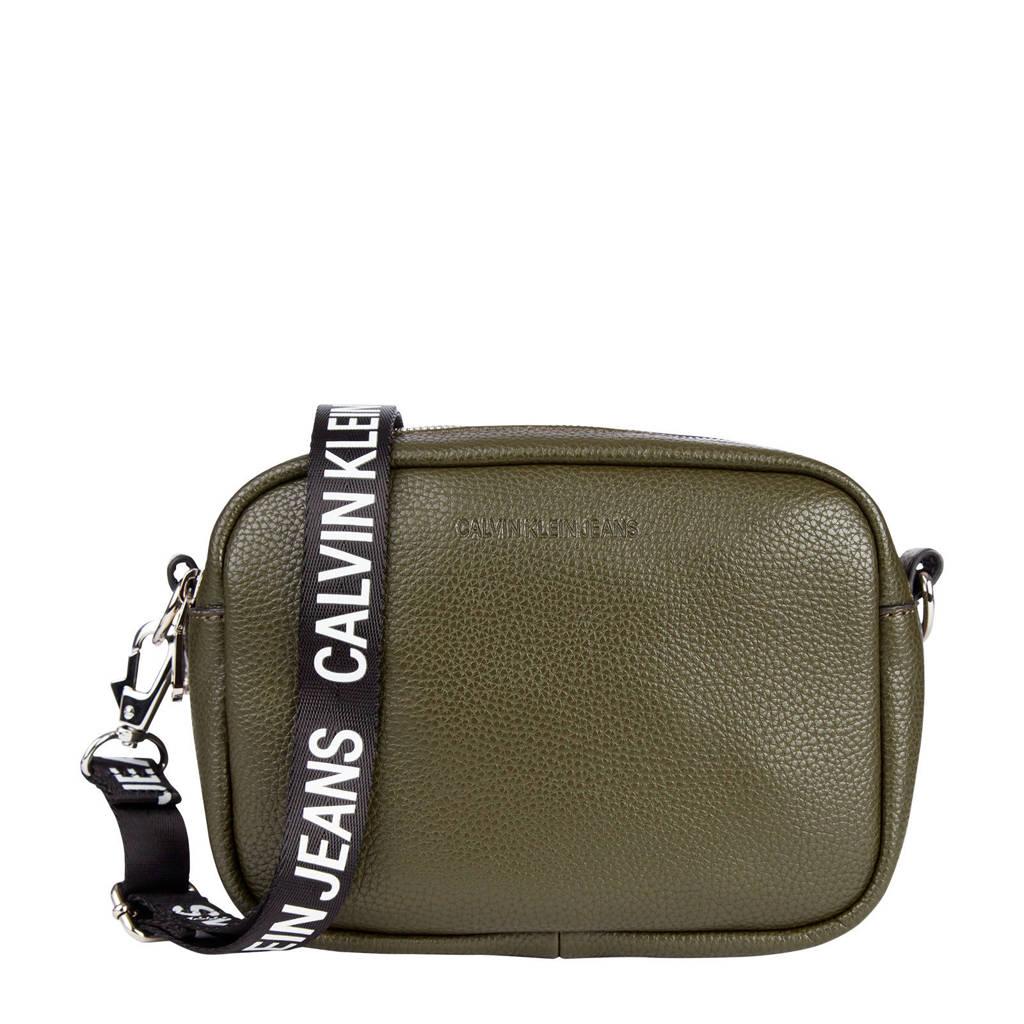 CALVIN KLEIN   crossbody tas Camera Bag zwart, Olijfgroen