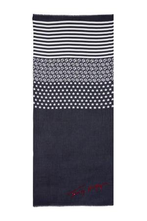 sjaal SIGNATURE SEQUINS blauw