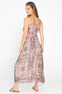 Cassis jurk met paisleyprint roze/ bruin, Roze/ bruin