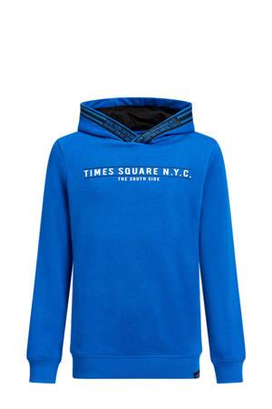 hoodie met tekst blauw