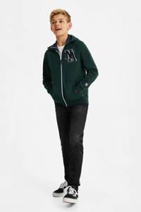 WE Fashion vest met 3D applicatie donkergroen, Donkergroen