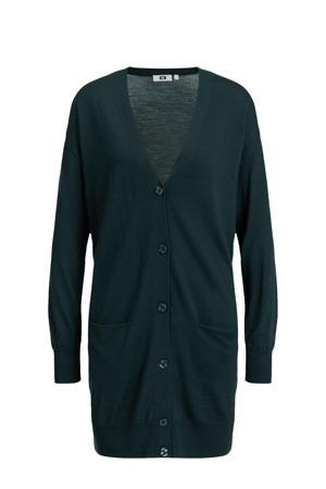 wollen jurk dark green
