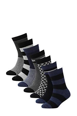 sokken - set van 7 zwart