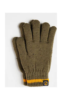WE Fashion handschoenen legergroen, Army