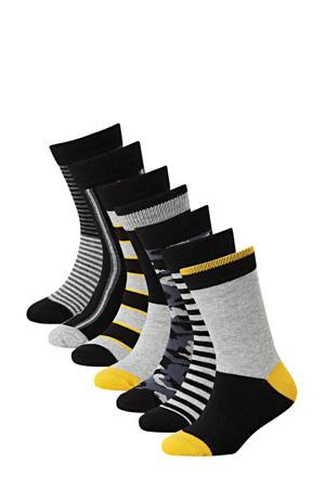sokken - set van 7 grijs