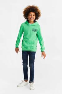 WE Fashion hoodie met tekst groen, Groen