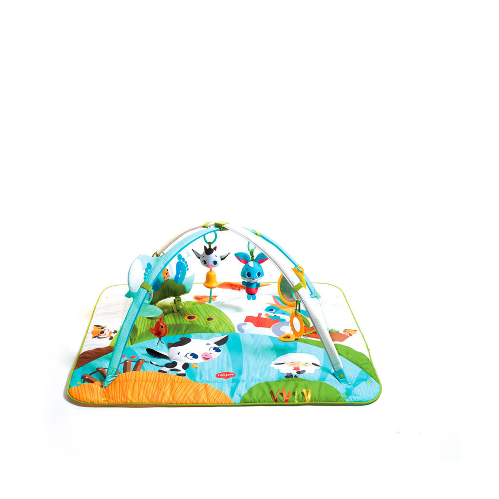 Tiny Love speelkleed Gymini Kick & Play Tiny Farm, Blauw/wit