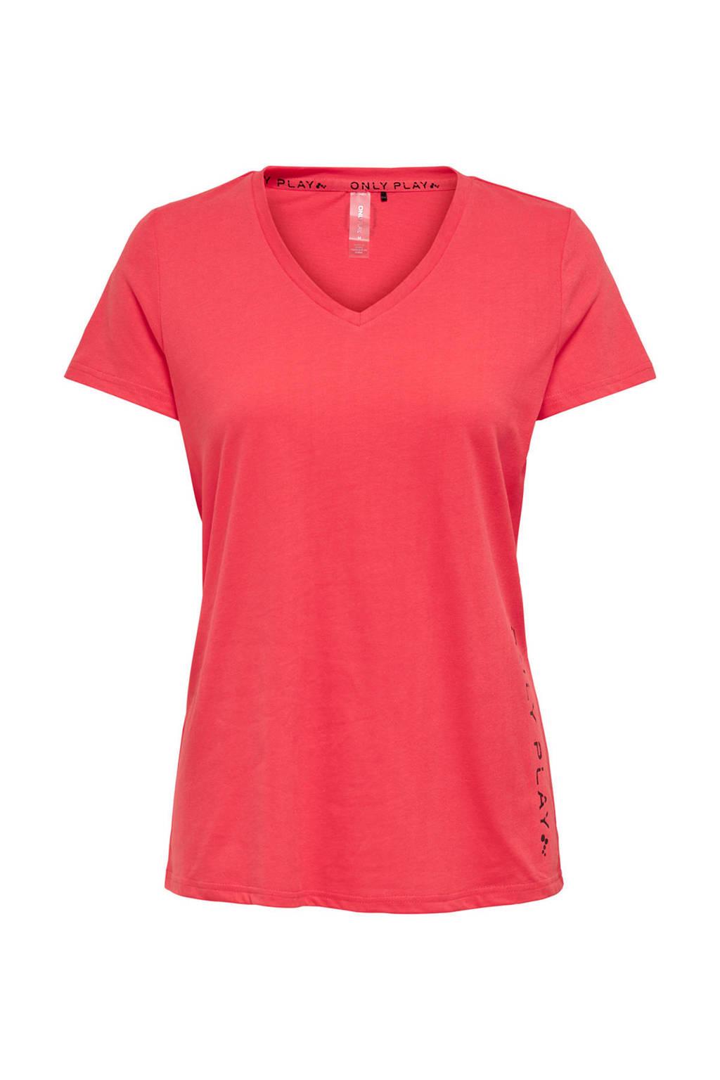 ONLY PLAY sport T-shirt koraalrood, Koraalrood