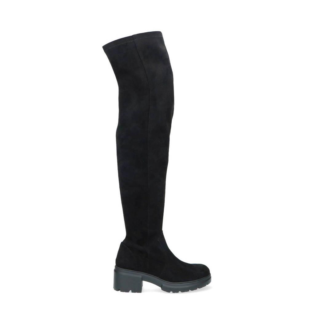 Sacha   overknee laarzen zwart, Zwart
