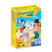 Playmobil 1-2-3  Ruiter met paard 70404