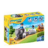 Playmobil 1-2-3  Dierentrein 70405