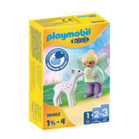 Playmobil 1-2-3  Feeënvriend met reekalfje 70402