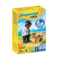 Playmobil 1-2-3  Dierenarts met hond 70407
