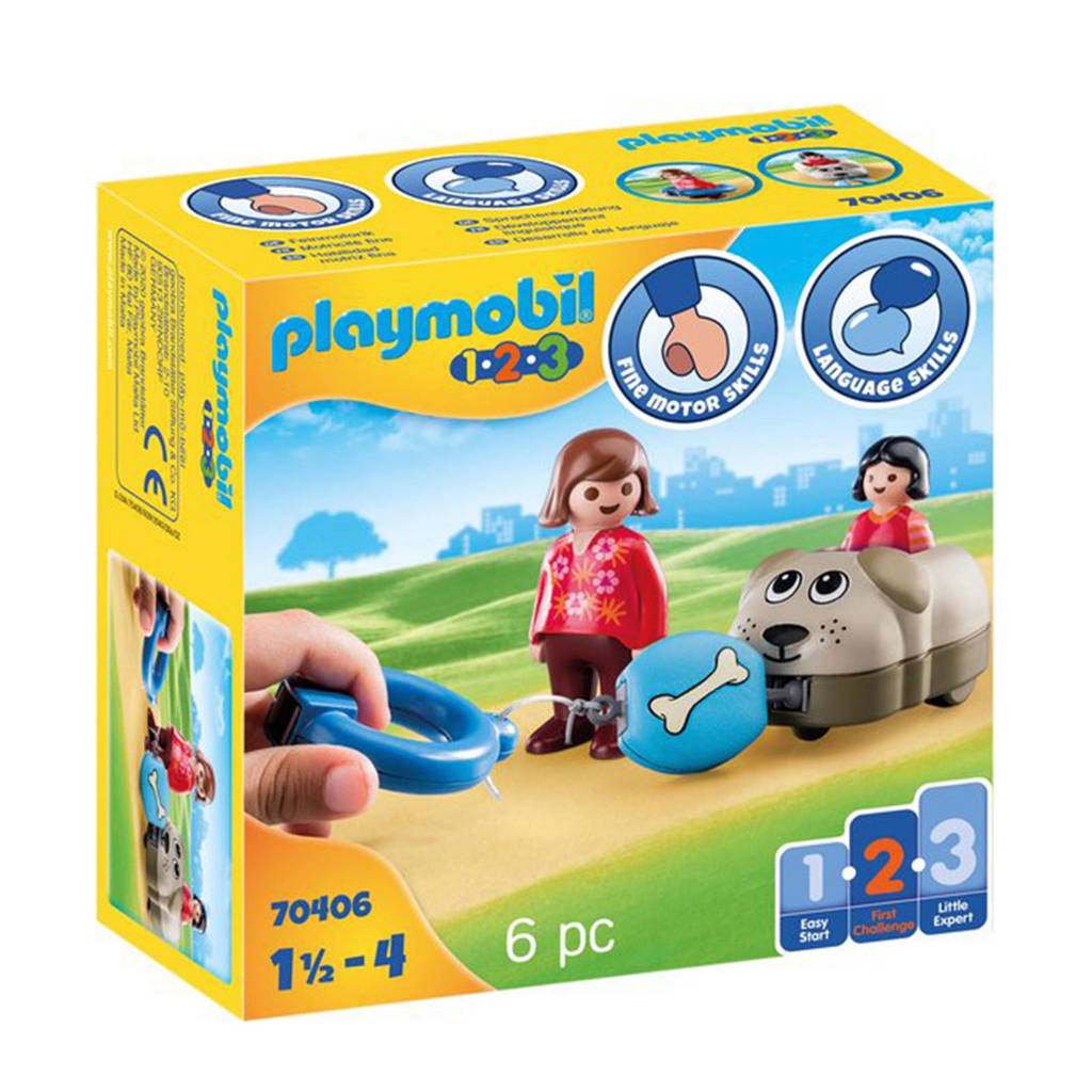 Playmobil 1-2-3  Hondentrein 70406