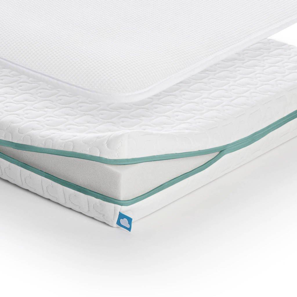 AeroSleep ® ECOlution Pack 2-in-1 : Matras + 3D Beschermer (60x120 cm), Wit